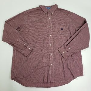 Chaps Easy Care Button Front 3XLT Shirt